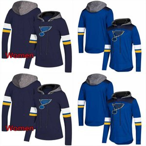 St. Louis Blues AD Hoodies Jerseys Hombres / Mujeres Hockey azul Cualquier jugador o número Stitch Sewn Hoodies Jerseys Sudaderas