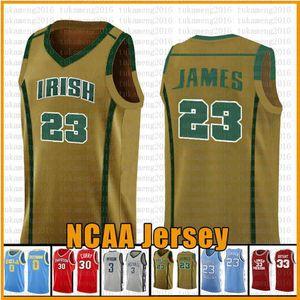 WHITE 23 Леброн Джеймс 13 NCAA Харден Баскетбол Джерси Аризона университет Государственный Вефиль ирландский Высшая школа трикотажных изделий