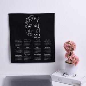 Semplice Wall Calendar tessuto stampato orologio calendario annuo Diary Study Planner Avvento Panno Wall Hanging