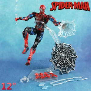 "Marvel 12"" Spider-Man Action Figure KOs PLAY ARTS PA KAI Amazing Spiderman 27cm 1 6 Super Heros Legends Hot Toys Doll Avengers"