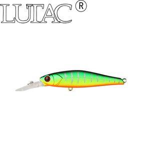 Lutac minnow Dur Leurre De Pêche Appât TM08C 75mm / 7.8 g appâts artificiels dur minnow treble Crochet de pêche leurre