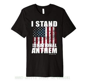 Tee con orgoglio stand delle donne For The Patriotic maglietta camicia sottile Inno nazionale per la signora Fashion