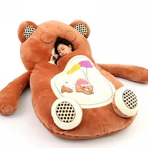 Dorimytrader الحيوانات الساخن القطيفة كيس القماش جامبو Sleepingbag الكرتون لينة سرير السجاد حصير فراش أريكة 3 نماذج للأطفال الكبار DY60497