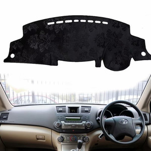 Dash flanella Dashmat Dashboard Car Cover Mat Carpet Car-styling per Highlander Kluger xu40 2007 2008 2009 2010 2012 2013