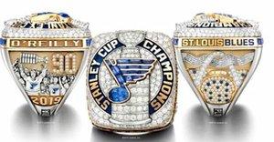 2018 2019 Blues de St. Louis anneaux de championnat de la Coupe Stanley Souvenir Hommes Fan cadeau 2020 Drop Shipping