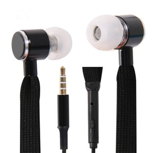 Earbuds Schnürsenkel Kopfhörer Super Bass Kopfhörer Metall Stereo Lauf Hörmuscheln für iPhone 7 8 Xiaomi Redmi Anmerkung 7 Mi 9 SE
