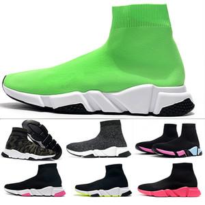 2020 hombres del diseñador de zapatos de las mujeres Speed Trainer calcetín negro blanco purpurina rosa roja zapatos casual para hombre tamaño Formadores Runner 36-47