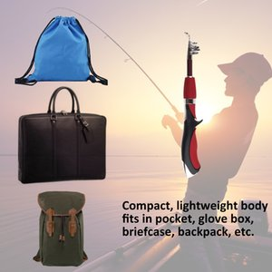 Mini Short Fishing Pole Light Weight Lure Spincast Beginner Portable Fishing Angling Rod with Tackle Box