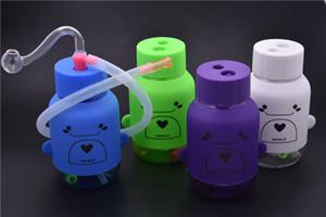 mini bottiglia di plastica Bong Heady Bong mini Dab Rig Tubo dell'acqua Piattaforme petrolifere spesse cera fumo narghilè 10mm Ciotola tubi gorgogliatore con tubo