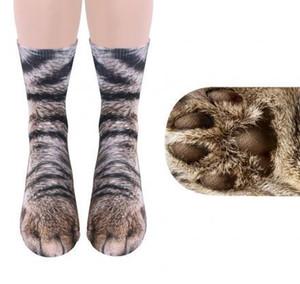 Erwachsene Kinder Tier 3D Socken Unisex Tier Fuß Huf Socken gedruckt Katze Hund Tiger Paw Füße Socken für Kinder Erwachsene Weihnachten Haus warmen Strumpf