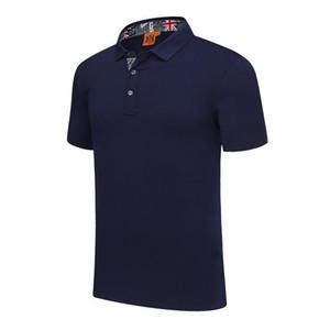 Yeni erkek ve kadınlar İngiliz rüzgar düz pamuk spandex pamuklu polo gömlek Mavi Kısa kollu tişört SD-1858-220