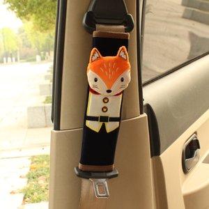 1 paio Cute Cartoon auto dicurezza cintura di sicurezza copertura Seggiolino cinghia della spalla rilievi di protezione sicurezza del bambino