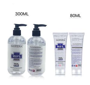 80ml Portable Hand Sanitiser Gel Kills 99.99% Bacteria Disposable Hand Sanitizer Portable Disinfection Spray Liquid Hand Soap - Free DHL