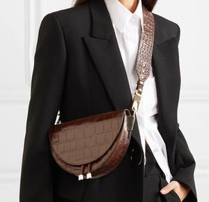 NIGEDU Женщины Crossbody сумка мода Крокодил полукруг Седло Сумка Кожа PU сумка плеча для женской сумки дизайнера Bolsas CX200620