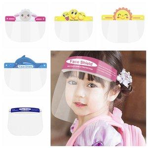 Kids Children Safety Faceshield Transparent Full Face Cover Protective Film Tool Anti-fog Face Shield Designer Masks RRA3277