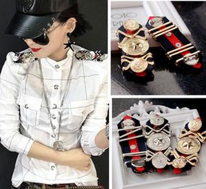 épaule européenne US métal Broche épaulette pentagramme / blazer épaulette / charretera / Kpop vêtements acessorios / mujer broches / brosche