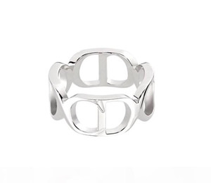 CD alphabet stitching Ring S925 Sterling Silver Fashion Rings for men and women jewelry