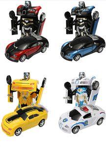 Deformasyon Araba Klasik Otomatik Transformerring Robotu Plastik Model Araba Eğitim Oyuncaklar Boys için şaşırtıcı hediyeler Çocuklar Süper Spor Araba Çocuk