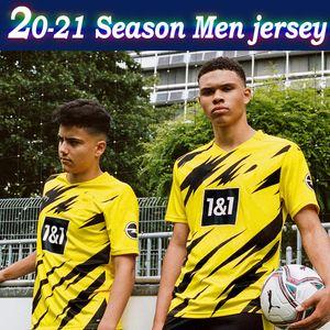 # 9 Haaland # 10 PERIGO Dort casa de Futebol 2020 # 11 REUS # 7 SANCHO Soccer Jersey camisas 20/21 manga curta # 19 Fardas BRANDT Futebol