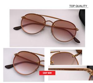 Metal Yuvarlak Çerçeveler toptan fabrika óculos fafas soğutmak rd3614 en kaliteli Moda Kadınlar Güneş Ünlü Güneş Gözlükleri büyük Marka UV400