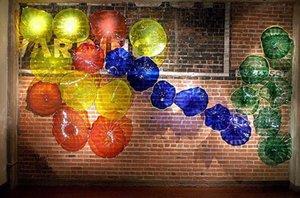 Cheap Moderna Art Decor soffiato Wall Plates Glass Bene della casa di disegno decorativo di vetro borosilicato Lampade da parete