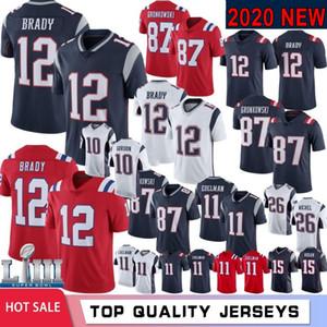 12 Tom Brady 87 Rob Gronkowski Erkekler Jersey 11 Julian Edelman Sony Michel 10 Josh Gordon 14 Aşçılar Hightower Gilmore Sıcak