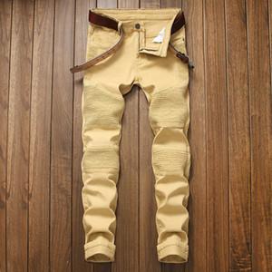 Nueva Boutique de la manera de estiramiento casual para hombre pantalones vaqueros / pantalones vaqueros flacos de los hombres rectos de los pantalones para hombre del dril de algodón / Hombre estiramiento pantalones 7