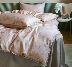 Trend pastoral bedding set teen girl,full queen king 60s cotton retro leaf double home textile bed sheet pillow case quilt cover