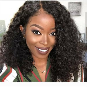 Curly Lace Front Wigs Pre Plucked With Baby Hair remy Full Lace Human Hair Wigs For Black Women