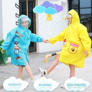 Xiaobao Cartoon Cloak Raincoat Bag Bag Cloak Raincoat Boys 'Poncho Alunni Schoolbag Bambini per bambini con enftt