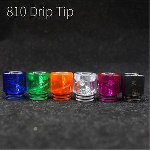 Vape Spiral Drip Tip 810 510 mtl boccaglio punta a goccia per RDA TFV8 TFV12 E Sigaretta Airflow Bocchino a buon mercato DHL Free