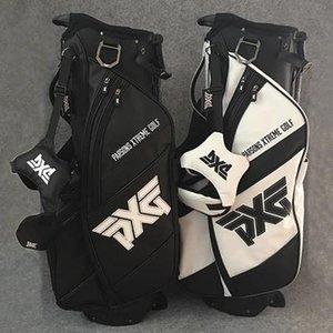vente en gros chaud Sac de golf Clubs de golf Sac 4 trous de voyage blanc jeu complet ou couleur noir stands fers rack putter fairway pilote