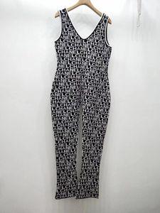 Autunno della molla donne di lavoro a maglia lettera tute lettere i pagliaccetti femminili casuale street wear pantaloni della bretella 12-90