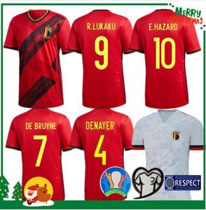 2020 بلجيكا المنزل بعيدا LUKAKU أخطار كومباني DE BRUYNE MERTENS جيرسي لكرة القدم 2021 رجل الكبار والاطفال قميص عدة الرياضية لكرة القدم