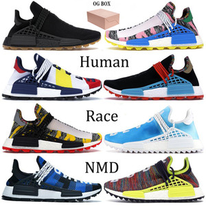 Las mejores zapatillas para correr NMD Human Race para hombre Pharrell Williams Pw Hu Holi Pale Nude Solar Pack Orange BBC Green Plaid Women Designer Shoes