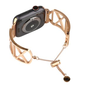 Women Band For Apple Watch 38mm 42mm 40mm 44mm Stainless Steel Strap Fashion Metal Bracelet For Iwatch Series5 4 3 2 1