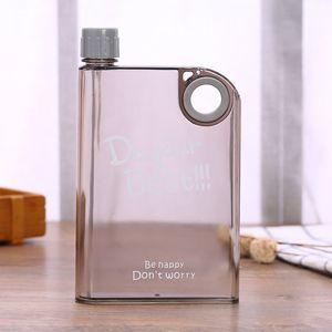 Бутылка Ring Clear Water 13oz Творческого ноутбук бутылка вода Открытой Портативная Бутылка Спорт чайник вода пластиковой фляжка 7 цветов VT0448