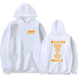Kostenloser Versand ATEEZ Hoodies Neue Alben Sweatshirt Hohe Qualität Pullover Outwear Kpop Koreanische Gruppe Lässige Hoodie Sweatshirt Streetwear