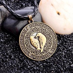 Птица Ожерелье Для Женщин Викинг Красиво Ожерелье Мифология Ювелирные Изделия Талисман Кожаное Ожерелье