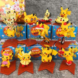 10pcs / Lot bolsillo Monster Elf Bikachu muñeca de acción del PVC Figuras adornos decorativos juguetes de los niños para los regalos de los niños juguetes para niños