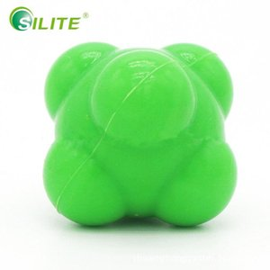SILITE Multifunction Hexagonal Ball Solid Fitness Agility Coordination Reflex Exercise Workout Equipment Training Reaction Ball