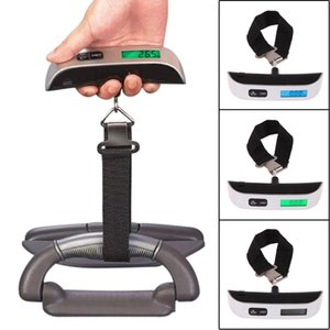 50kg*10g Electronic Scales Household Portable Weight Digital Scale for Suitcase Travel Bag Temperature Display