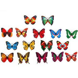 70 adet hayvan Explorer Simülasyon çift kanat yapay Kelebek, PVC Kelebekler Action Figure Playset hayvan Model oyuncaklar çocuklar için