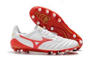 Düşük Morelia Neo II FG futbol ayakkabıları erkek futbol ayakkabıları Açık yeni varış deri futbol koç boynuzu