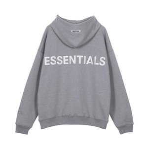 Mens Designer Hoodies FOG ESSENTIEL 19AW broderie Gris Rose High Street Fashion Brand Tee shirt lâche Sweat S-XL