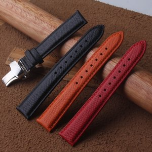 Noir Orange Rouge Motif De Lézard En Cuir Véritable 16mm 18mm 20mm Montres Band Strap Ceinture Bracelet de montre Fermoir Boucle De Montre Boucle