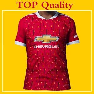 2021 Rashford B.FERNANDES Pogba los jerseys del fútbol de Manchester LINGARD MARTIAL camiseta de fútbol unido UTD 20 21 uniformes hombre + kit de niños