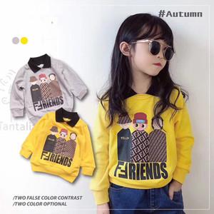 neu kommen Baby-Mädchen Hoodie Kinder Umlegekragen mit langen Ärmeln Pullover chlid sweatershirts Kinderkleidung