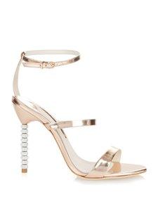 Бесплатная доставка 2020 Женская дубленка разомкнутые пальцы алмазные туфли на высоких каблуках Rhinestone украшения Sophia Webster насосы сандалии обувь 34-42