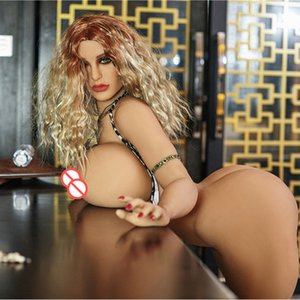 2018 New Huge Big Ass und Brust Sexy Ganzkörper-Silikon-Chubby Sex Liebespuppen Naturgetreue erwachsenes Geschlecht spielt Fat Life Size Oral Sex Dolls für Männer